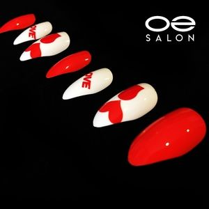 O2 Salon 5439 Fake False Nails Art (72 pcs/3 set)